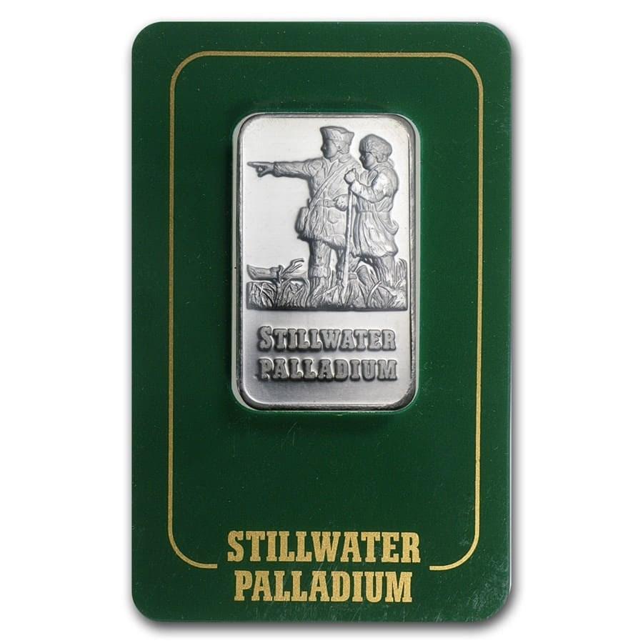 1 oz Palladium Bar - Johnson Matthey Lewis & Clark (In Assay)