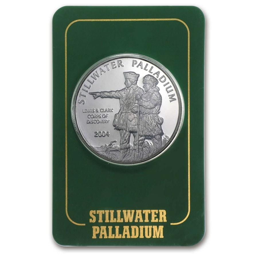 1 oz Palladium Round - Johnson Matthey Lewis & Clark (In Assay)