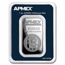 1 oz Platinum Bar - APMEX (TEP)