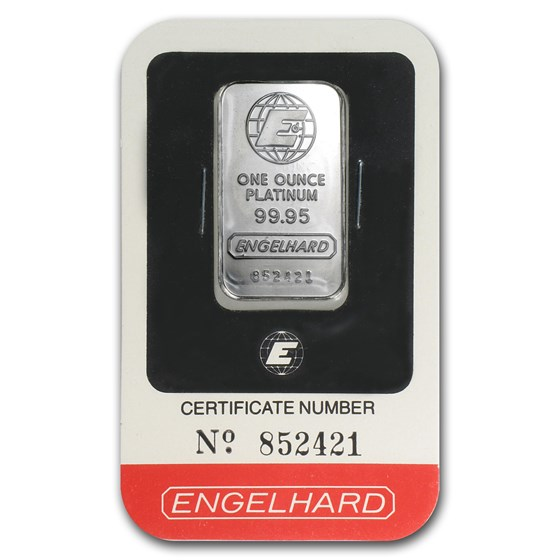 1 oz Platinum Bar - Engelhard (In Assay)