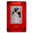 1 oz Platinum Bar - PAMP Suisse (Year of the Ox)