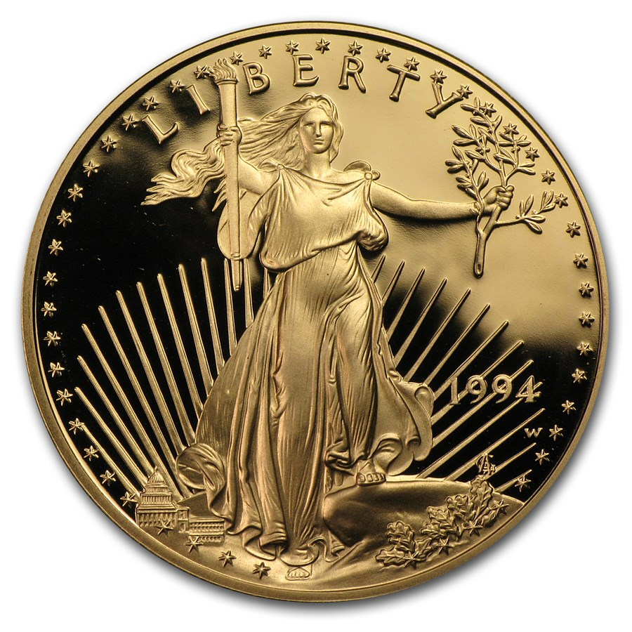 1 oz Proof American Gold Eagle (Random, Capsule Only)