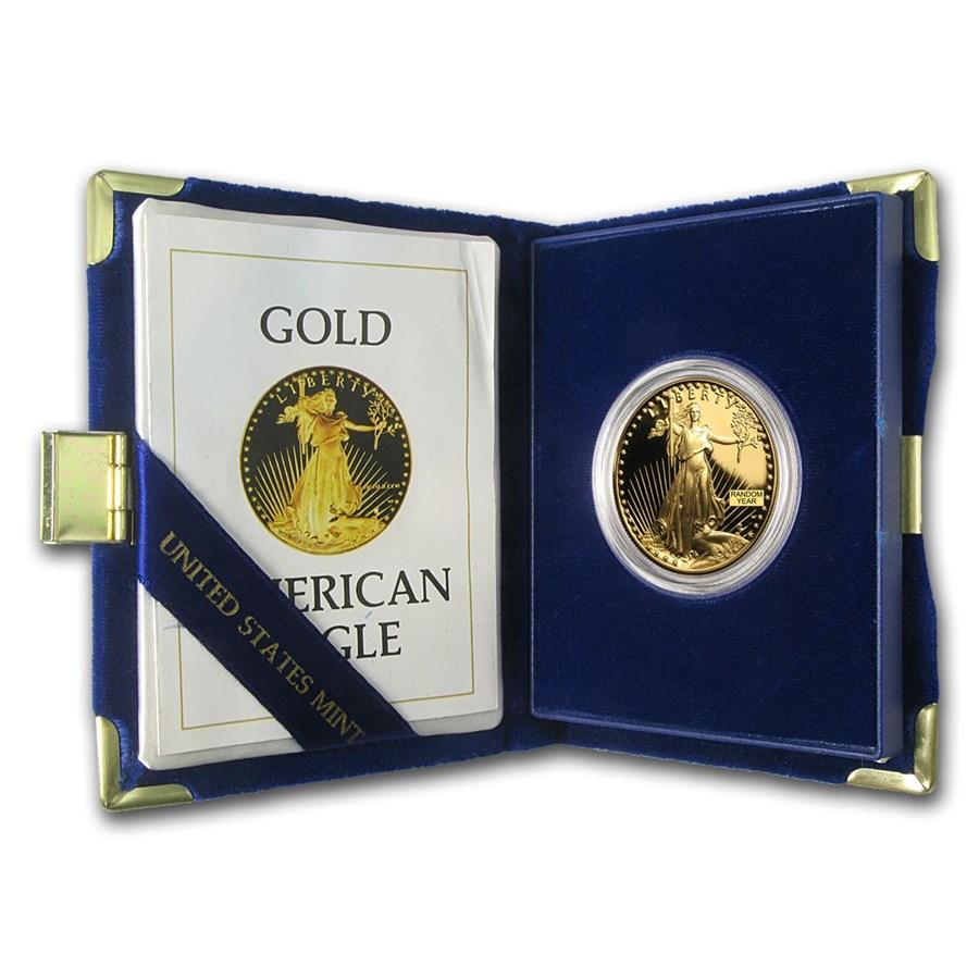 1 oz Proof American Gold Eagle (Random Year, w/Box & COA)