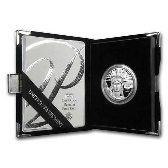 1 oz Proof Platinum American Eagle (Random Year, w/Box & COA)