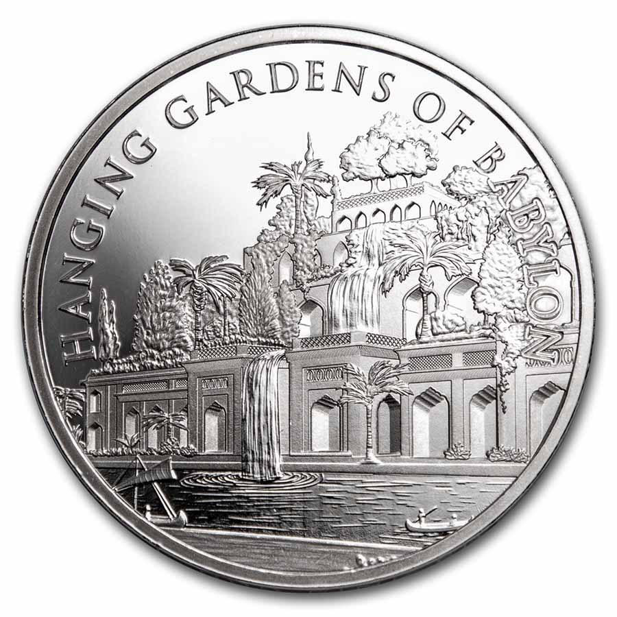 1 oz Silver - 7 Wonders of the World: Hanging Gardens of Babylon