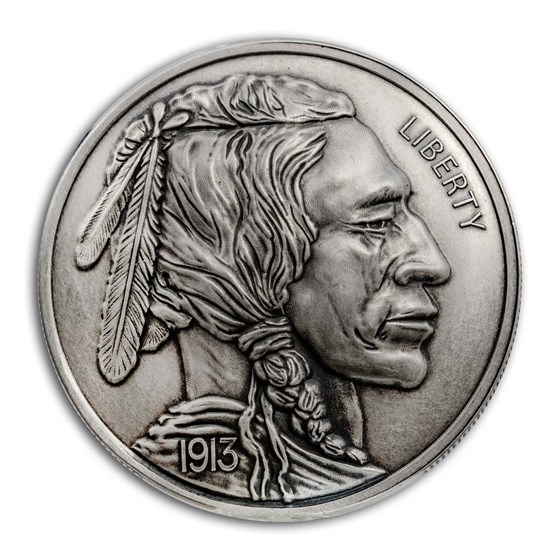 1 oz Silver Antique Round - American Legacy: Buffalo Nickel