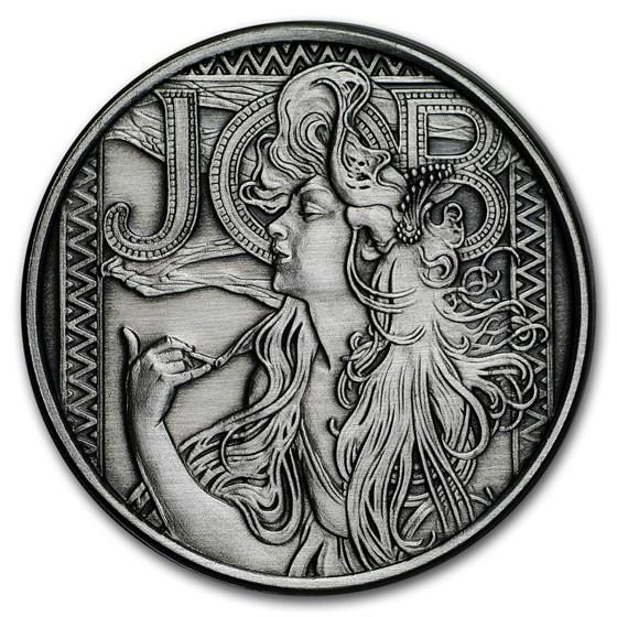 1 oz Silver Antique Round - Mucha Series (JOB)