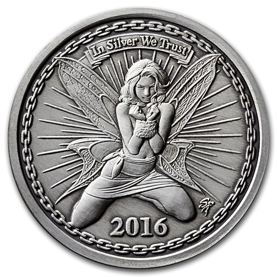 1 oz Silver Antique Round - Reddit Silverbug: Alyx The Fairy