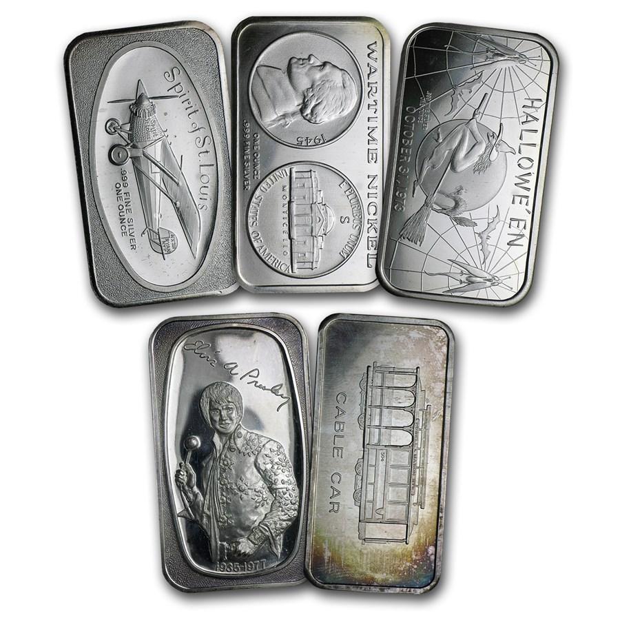 1 oz Silver Art Bar - Random Design