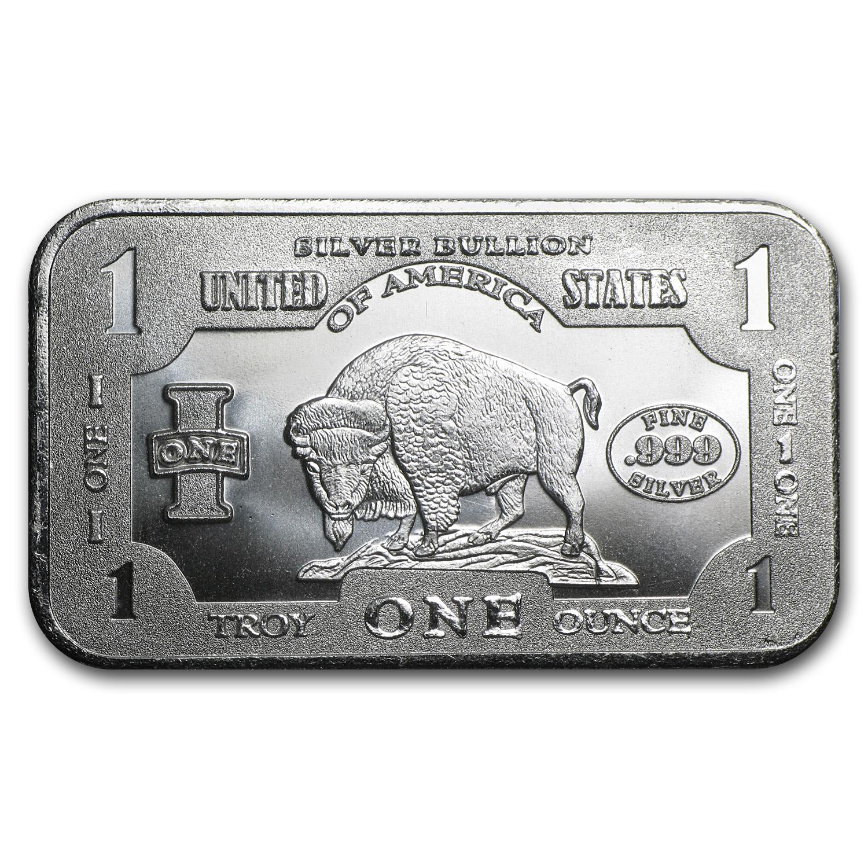 SKU #80460 3 oz Silver Heart Bison Bullion