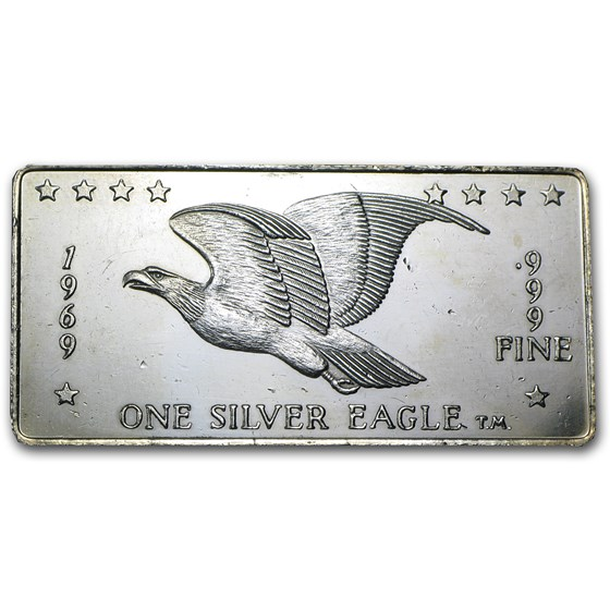 1 oz Silver Bar - 1969 Silver Eagles Nest (Hairlines)
