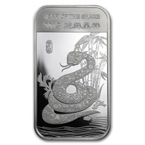 1 oz Silver Bar - APMEX (2013 Year of the Snake)