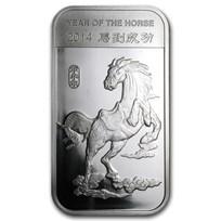 1 oz Silver Bar - APMEX (2014 Year of the Horse)