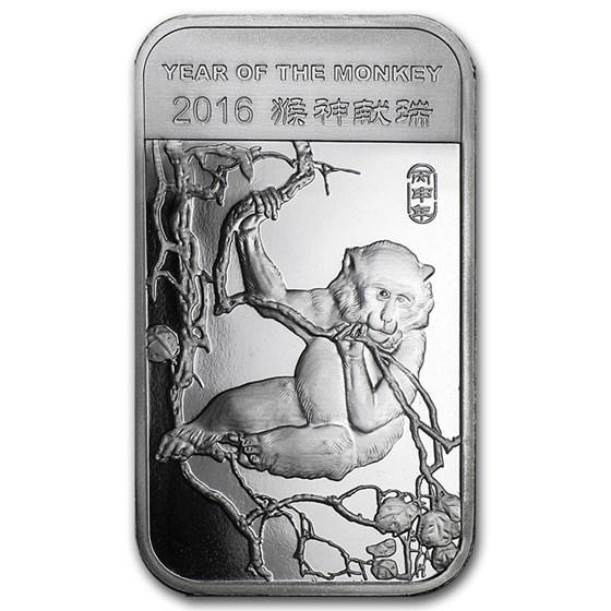 1 oz Silver Bar - APMEX (2016 Year of the Monkey)