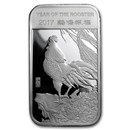 1 oz Silver Bar - APMEX (2017 Year of the Rooster)