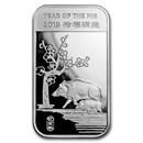 1 oz Silver Bar - APMEX (2019 Year of the Pig)