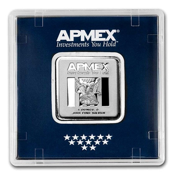 1 oz Silver Bar - APMEX (Encapsulated w/Assay)