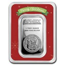 1 oz Silver Bar - APMEX (Merry Christmas, In TEP Package)