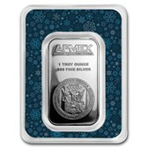 1 oz Silver Bar - APMEX (Snowflakes, In TEP Package)