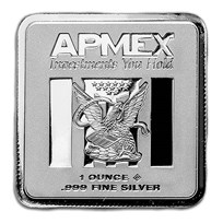 1 oz Silver Bar - APMEX (Square Series)