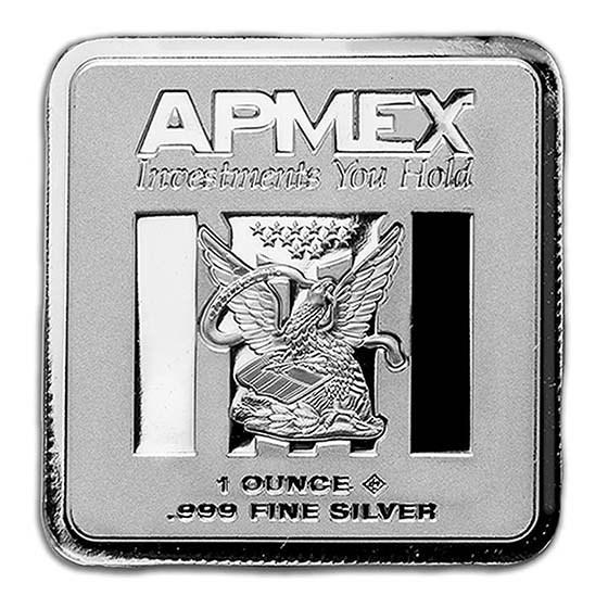 1 oz Silver Bar - APMEX (Square Series)