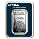 1 oz Silver Bar - APMEX (TEP)
