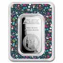 1 oz Silver Bar - APMEX (w/Christmas Collage Card, In TEP)