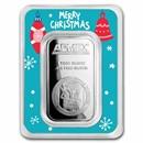 1 oz Silver Bar - APMEX (w/Christmas Ornaments Card, In TEP)