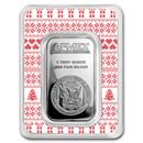 1 oz Silver Bar - APMEX (w/Holiday Sweater Pattern Card, In TEP)
