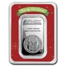 1 oz Silver Bar - APMEX (w/Red Merry Christmas Card, In TEP)
