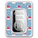 1 oz Silver Bar - APMEX (w/Santa Caps Card, In TEP)
