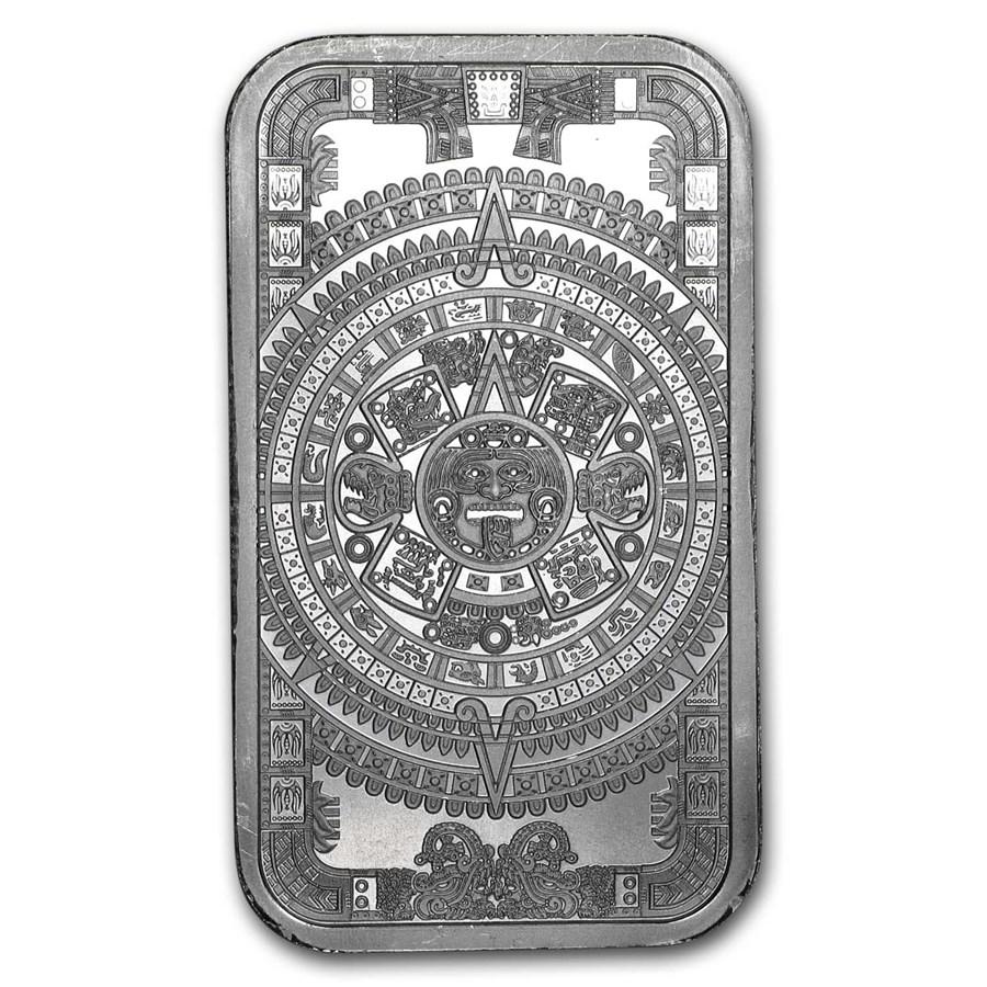 1 oz Silver Bar - Aztec Calendar