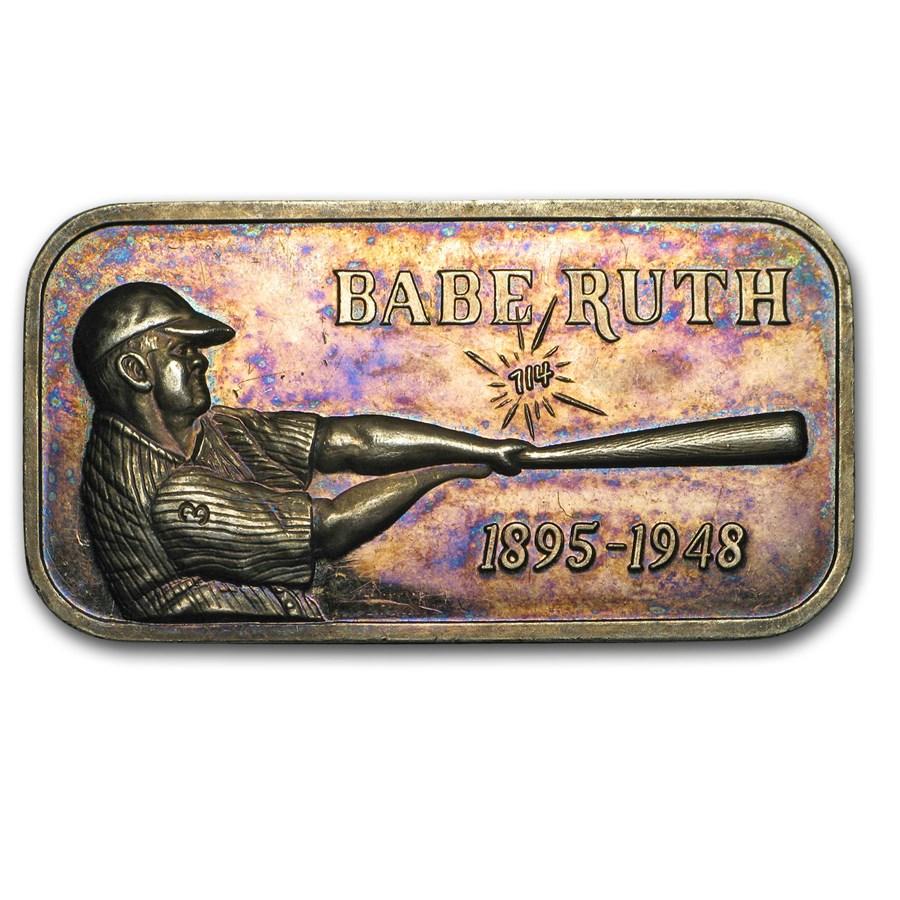 1 oz Silver Bar - Babe Ruth