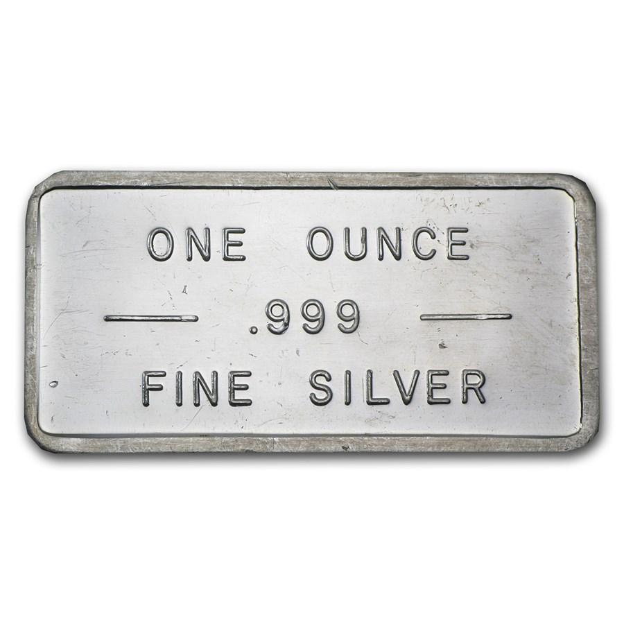 1 oz Silver Bar - Bache