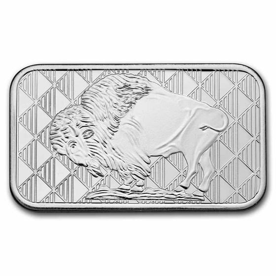 1 oz Silver Bar - Buffalo