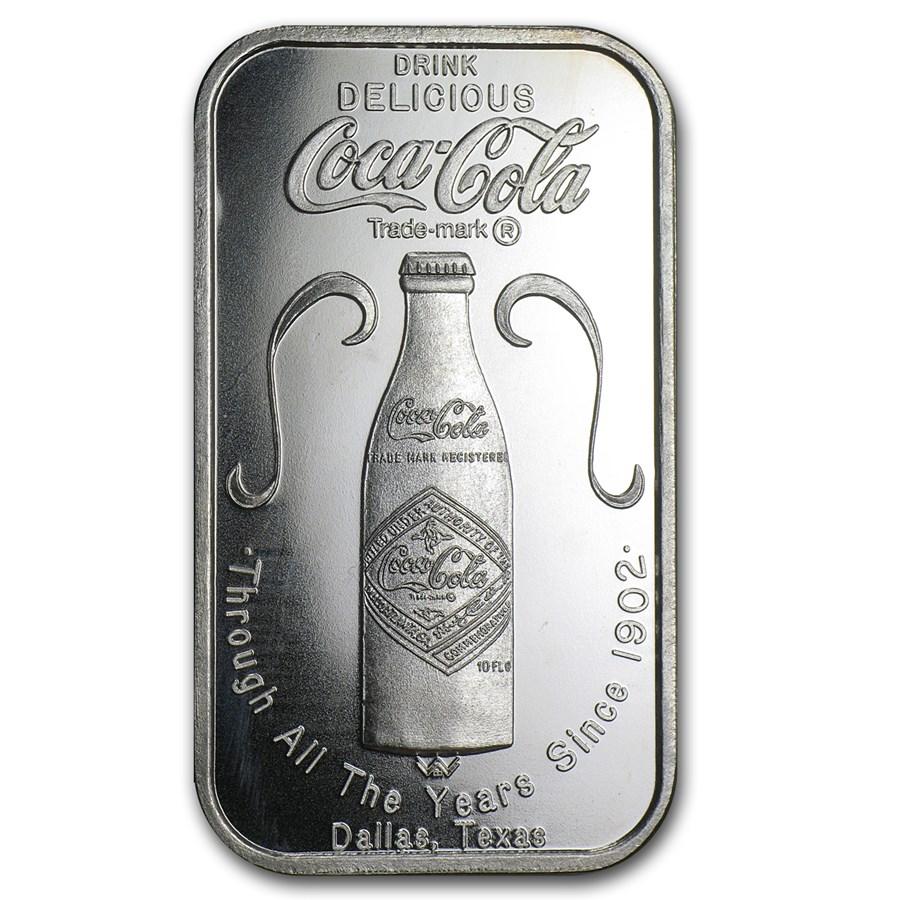 1 oz Silver Bar - Coca Cola (Dallas, Texas)