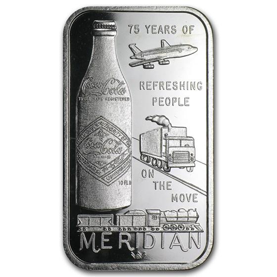 1 oz Silver Bar - Coca Cola (Meridian, MS)