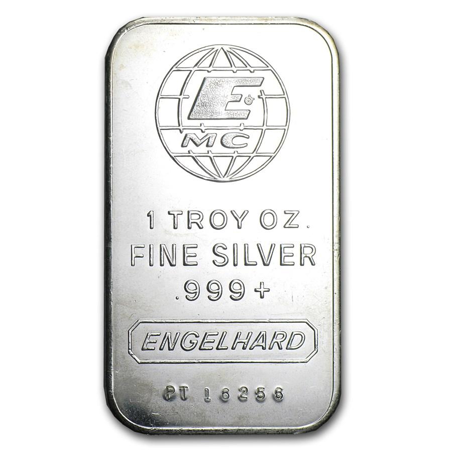 1 oz Silver Bar - Engelhard (Tall-E Logo)