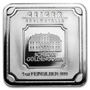 1 oz Silver Bar - Geiger Edelmetalle (Original Square Series)