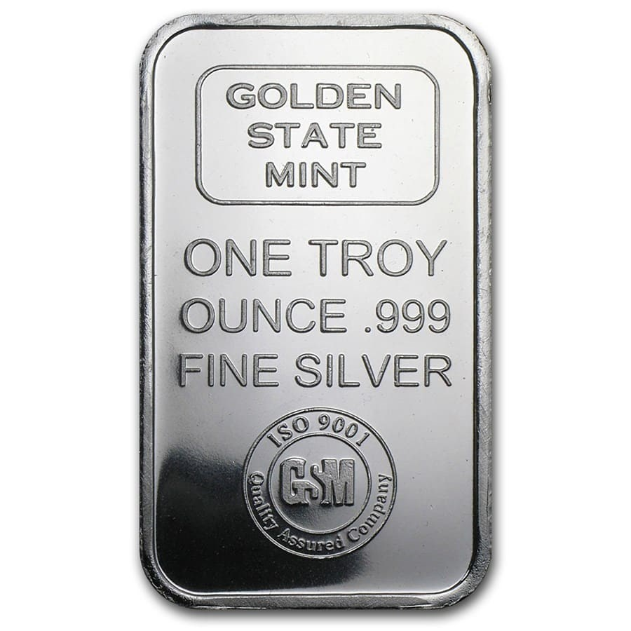 1 oz Silver Bar - Golden State Mint (ISO)