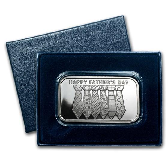 1 oz Silver Bar - Happy Father's Day Tie (w/Box & Capsule)