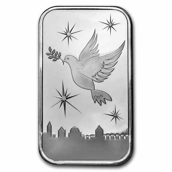 1 oz Silver Bar - Holy Land Mint (Dove of Peace)