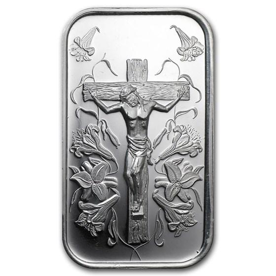 1 oz Silver Bar - Jesus