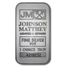 1 oz Silver Bar - Johnson Matthey