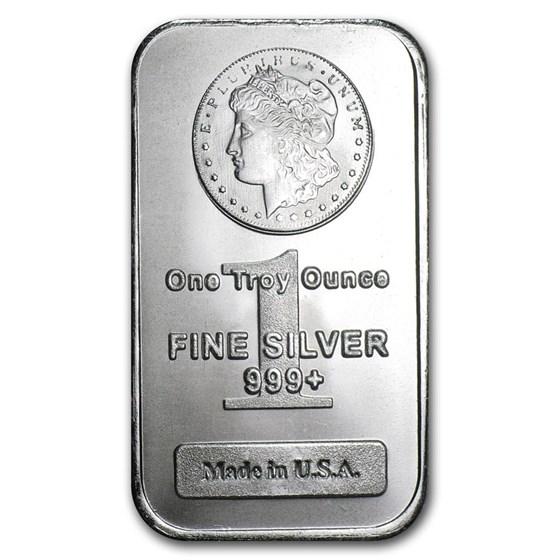 1 oz Silver Bar - Morgan Design