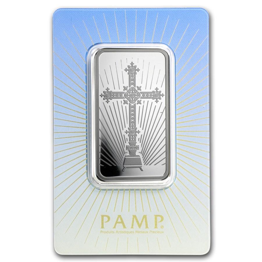 1 oz Silver Bar - PAMP Suisse Religious Series (Romanesque Cross)