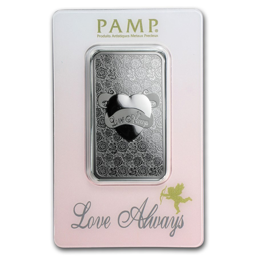 1 oz Silver Bar - PAMP Suisse (Various/No COA)