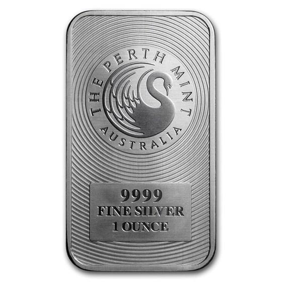 1 oz Silver Bar - Perth Mint