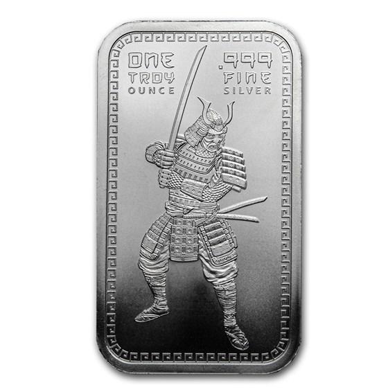 1 oz Silver Bar - Samurai Warrior