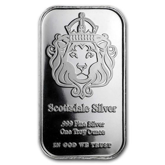 1 oz Silver Bar - Scottsdale